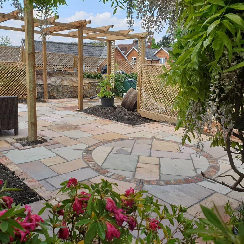 Happy clients beautiful patio in Kent